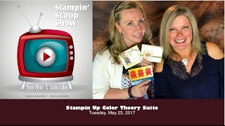 """Show details & giveaway: http://stampwithtami.com/blog/2017/05/the-stampin-scoop-show-episode-35 Watch live broadcasts: http://facebook.com/stampwithtami1 Summer, spring, winter, autumn... we don't care what season it is...we'll stamp for all of them with this set and we'll have fun doing it! It's the new Stampin Up Color Theory Suite, and it's amazing. See it up close on today's Stampin Scoop Show. Linda will make an amazing card from the suite. And we'll show you some fabulous ideas.This suite will be available in the new Stampin Up Catalog. It releases June 1, or you can get these products now (at a discount) with the Demo Kit. Click here for more details.The Stampin Scoop show airs live on Facebook every other Tuesday. Click here for details. Our last episode of the season will be June 20. We will be back in August with a new season of fun and adventures.——— S U P P L I E S ———• Colorful Seasons Photopolymer Stamp Set 143726  ——  https://ldli.co/e/14pqq• Whisper White 8-1/2X11 Card Stock #100730  ——  https://ldli.co/e/d97yk• Real Red 8-1/2X11 Card Stock #102482  ——  https://ldli.co/e/z4rgp• Dapper Denim 8-1/2"""" X 11"""" Cardstock 141414  ——  https://ldli.co/e/9ldxn• Color Theory Designer Series Paper Stack 144193  ——  https://ldli.co/e/k4qp0• Versamark Pad #102283  ——  https://ldli.co/e/7p6o7• Seasonal Layers Thinlits Dies 143751  ——  https://ldli.co/e/n0qy4• White Stampin' Emboss Powder #109132  ——  https://ldli.co/e/6plq6• Embossing Buddy #103083  ——  https://ldli.co/e/gjqy4• Big Shot Die-Cut Machine #143263  ——  https://ldli.co/e/0n7qz• Heat Tool #129053  ——  https://ldli.co/e/4p3ek• Stampin' Trimmer #126889  ——  https://ldli.co/e/2p6e6• Bone Folder #102300  ——  https://ldli.co/e/5myem• Paper Snips #103579  ——  https://ldli.co/e/3roe3• Foam Adhesive Strips 141825  ——  https://ldli.co/e/m45le• Stampin' Dimensionals #104430  ——  https://ldli.co/e/eo27l• Snail Adhesive #104332  ——  https://ldli.co/e/qryzdBe sure to join my social media Tami WhiteStampin' Up! Indepen"""