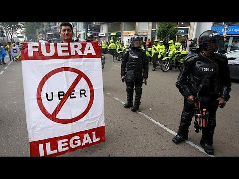 Κολομβία: Αυτοκινητιστές VS Uber – Επεισοδιακή διαδήλωση