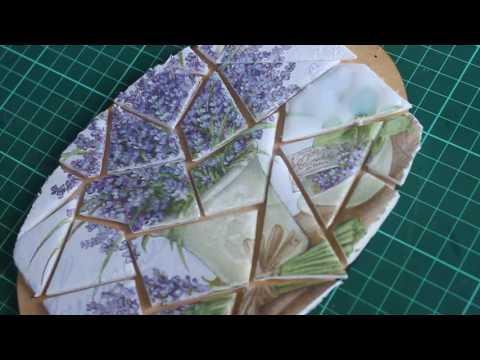 decoupage - ecco come si esegue il finto mosaico
