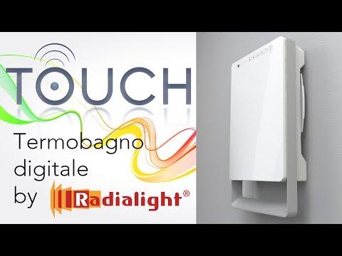 Riscaldare velocemente il bagno con il termoventilatore digitale TOUCH by Radialight