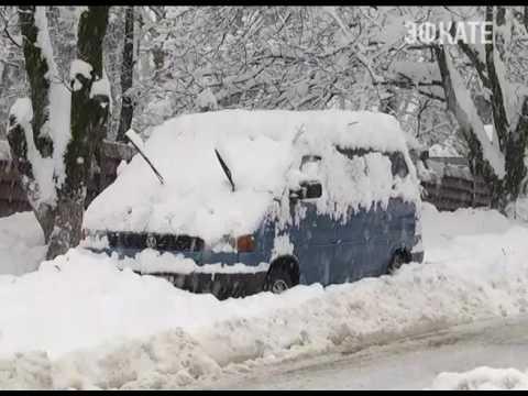 В горах Красной Поляны - небывалый снегопад. Новости Сочи Эфкате (видео)