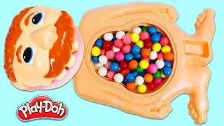 What's Inside Mr. Play Doh Head's Gumball Belly?! Hunting for Surprise Toys!