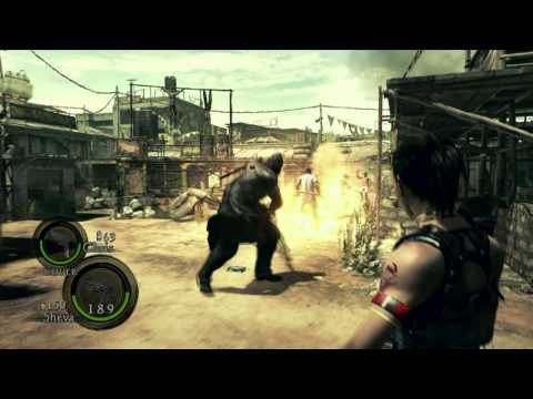Sheva Alomar fights versus Executioner Majini | Resident Evil 5 gameplay | | XBOX 360 | | HD |