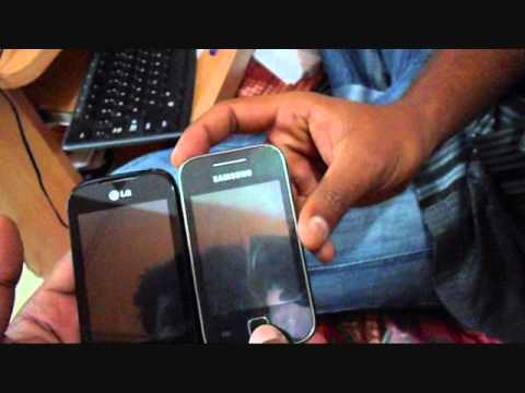 LG Optimus Net Dual Sim - P698 Unboxing and Galaxy Y Comparison
