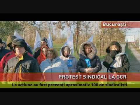 Protest sindical la CCR