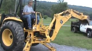 3. 2006 John Deere 110 TLB Tractor Loader Backhoe TLB 4x4 Yanmar Diesel Nice For Sale