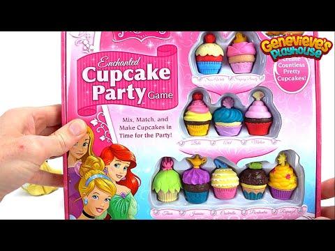 Best Disney Princess Video for Kids: Fun Cupcake Party Game! Disney Toy Cupcake Fun!