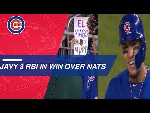 Baez homers, executes key bunt in extra-inning win