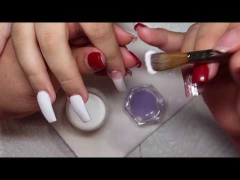 Square white acrylic nails  Christmas nails