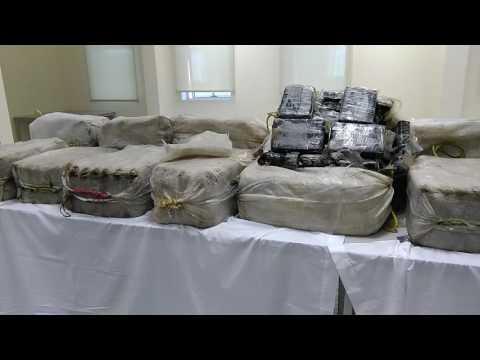 سابقة.. محجوزات شبكة تهريب الكوكايين