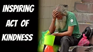 Helping a hard working old man - Helping the homeless 2016