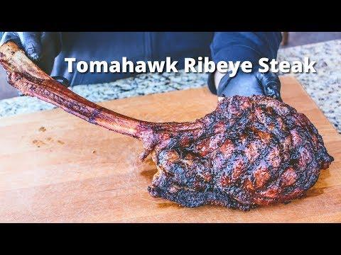 Tomahawk Ribeye Steak   Grilled Tomahawk Ribeye on the PK Grill