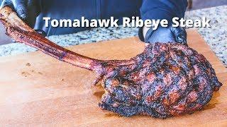 Video Tomahawk Ribeye Steak | Grilled Tomahawk Ribeye on the PK Grill MP3, 3GP, MP4, WEBM, AVI, FLV Maret 2019