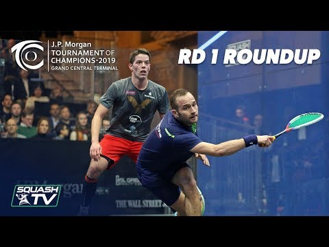 Squash: Tournament of Champions 2019 - Men's Rd 1 Roundup [Pt.1]