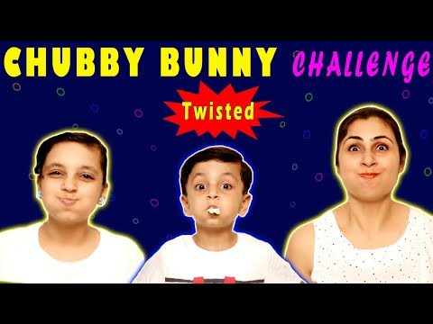 CHUBBY BUNNY CHALLENGE | #Bloopers | Sister vs Brother | Aayu and Pihu Show