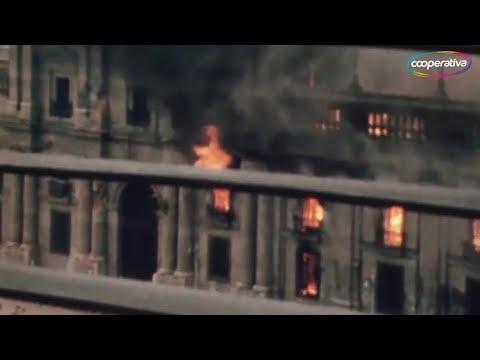 Bombardeo a La Moneda 11 de Septiembre, 1973 (Colorizado)