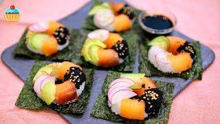 Вкусные СУШИ - ДОНАТСЫ по рецепту Семейной кухни. Оригинальные суши в виде пончиков. Закуска для вечеринки Суши-пончики с авокадо, огурцом, редисом, копченым лососем и икрой. Unusual DONUTS SISHI.Ингредиенты:4 шт - листы нори200 гр - рис1/2 шт - авокадо1/2 шт - огурец150 гр - лосось копченый1 шт - редис1 ч.л. - кунжутные семечки20 гр - икра (любая)заливка для риса:2 ст.л. - уксус 6%1 ст.л. - вода1 ч.л. - соль1 ст.л. - сахарIngredients:4 seaweed sheets200g. of rice1/2 of avocado1/2 of cucumber150g. of stew-cured salmon1 radish1tsp. of sesame seeds20g. of caviar (any kind of caviar)Dressing for the rice:2 tbsp. of 6% vinegar1 tbsp. of water1 tsp. of salt1 tsp. of sugarНАШ САЙТ СЕМЕЙНАЯ КУХНЯ с подробным описанием рецепта и фотографиями http://familykuhnya.com/ИНСТАГРАМ: http://instagram.com/familykuhnyaЖдем фото ваших кулинарных шедевров в нашей группе http://vk.com/familykuhnyaНаш новый канал о жизни! HappyLife Family https://www.youtube.com/channel/UCUdHxVVLBD-p9k2b7FywargСУШИ ВЫЗОВ! SUSHI CHALLENGE! https://www.youtube.com/watch?v=lmbvIJuz4RISUSHI BURRITO/СУШИ БУРРИТО - ну, оОчень вкусные!  https://www.youtube.com/watch?v=rgb9zGvshyQСладкие СУШИ и РОЛЛЫ с фруктами и ягодами - ну, оОчень вкусные! https://www.youtube.com/watch?v=Fp5qQC5RZY4СУШИ - ТОРТ/SUSHI CAKE - ну, оОчень вкусный! https://www.youtube.com/watch?v=cBxzrh0GfRQ&t=226s