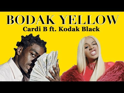Cardi B - Bodak Yellow Feat. Kodak Black (Remix) LYRICS