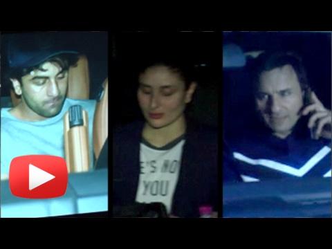 Kareena Kapoor, Saif Ali Khan, Ranbir Kapoor At Sh