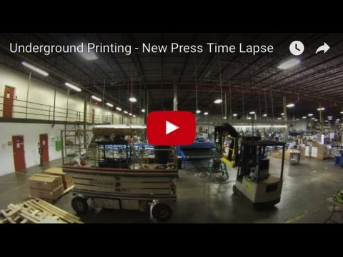 Underground Printing - New Press Time Lapse