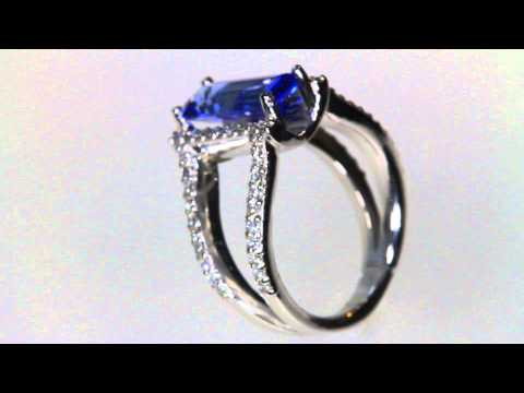 Tanzanite Ring With Fine Diamond in 14kt Gold