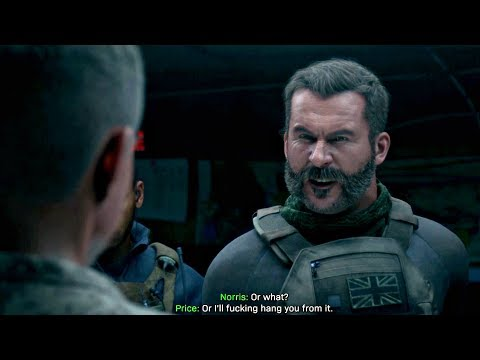 Call of Duty Modern Warfare 4 - Captain Price Gets Mad At Colonel Norris (CoD MW 2019) PS4 Pro