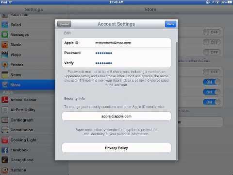 comment modifier apple id