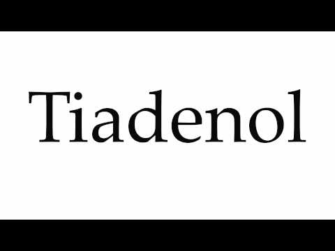 How to Pronounce Tiadenol