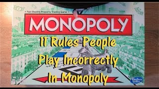 11 Rules You're Getting Wrong In Monopoly The Board Game