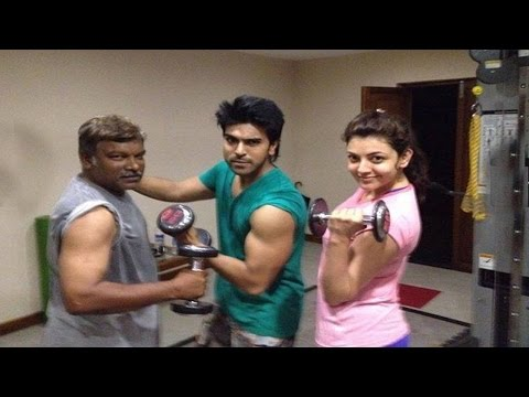 Ram charankajal and Krishna Vamsi Workout  in Jim  TV5 News