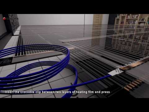 HEATING FILM TERMOFOL -  Visualization of the installation under the laminate floor