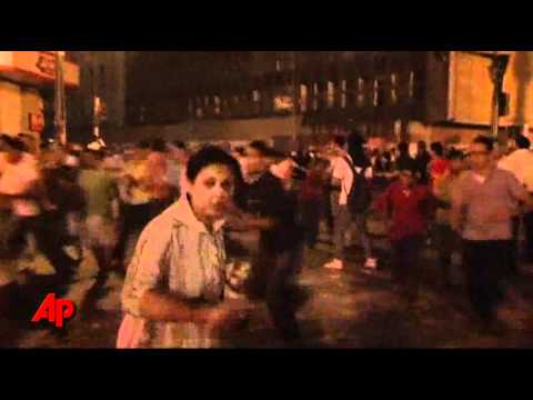 Raw Video: Egypt's Security Clashes With Crowds