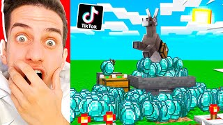 I TESTED 30 IMPOSSIBLE VIRAL TIKTOK MINECRAFT HACKS! **THEY WORK**