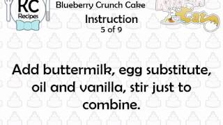 KC Blueberry Crunch Cake YouTube video