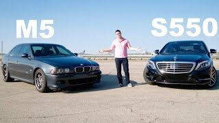 Nonton What's Faster: An E39 BMW M5 or a '16 Mercedes S550? Film Subtitle Indonesia Streaming Movie Download