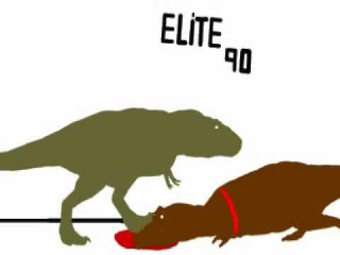 Elite's video : Tyrannosaurus rex vs Giganotosaurus carolinii