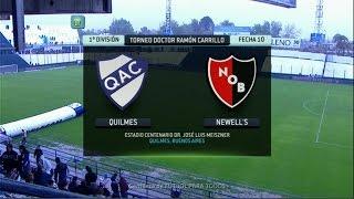 Fútbol En Vivo. Quilmes - Newell's. Fecha 10. Torneo Primera División 2014. FPT.