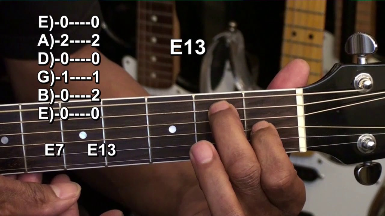 How To Use The E13 Chord For 12 Bar Blues Guitar Endings – How To Play Easy Blues