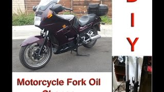 10. DIY How to Replace Motorcycle Fork Oil Kawasaki Concours ZG1000 C10