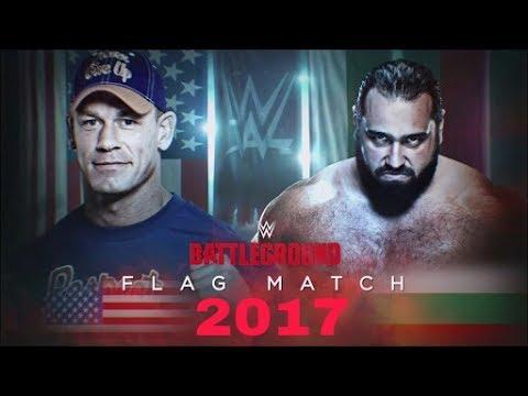 John Cena vs Rusev battleground 2017 wwe