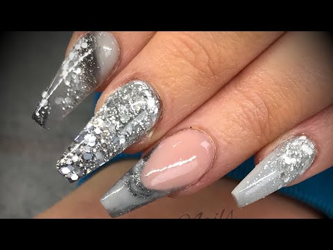 Acrylic nails - grey design set