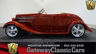 1934 Ford Roadster   #616 HOU   Gateway Classic Cars Houston