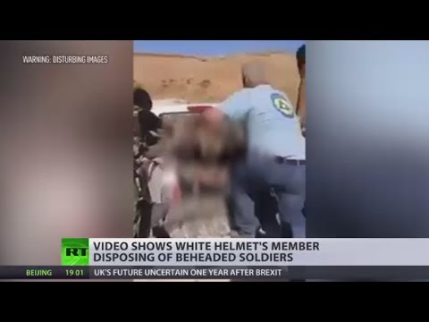 White Helmet member allegedly caught on camera disposing of beheaded soldiers (GRAPHIC)