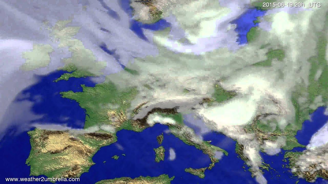 Cloud forecast Europe 2015-06-17