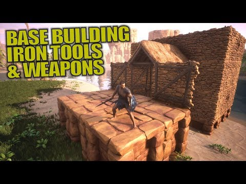 BASE BUILDING & IRON TOOLS/WEAPONS | Conan Exiles | Let's Play Gameplay | S02E03