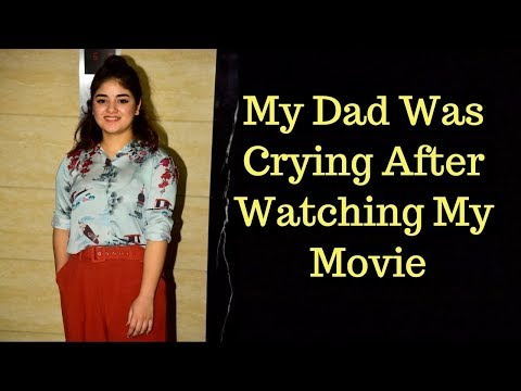 My Dad Was Crying After Watching My Movie: Zaira Wasim |Secret Superstar|