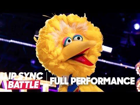"Big Bird Performs ""Feeling Good"" & ""I Gotta Feeling""    Lip Sync Battle"