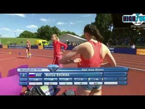 1.94 Mariya Kuchina Diamond League Birmingham ( women high jump )