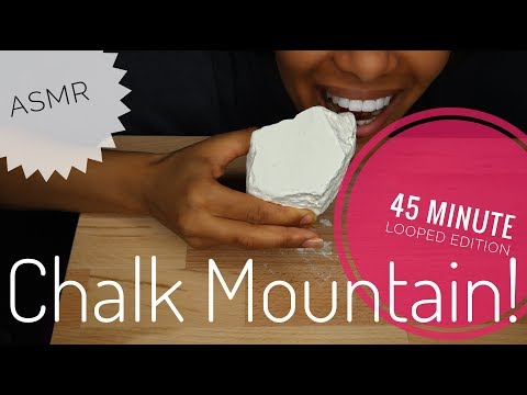 ASMR CHALK MOUNTAIN (45 MINUTE LOOPED EDITION) | Crunchy | No Talking (Subscriber Request)