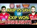 IPL 2018:Kings XI Punjab vs Sunrisers Hyderabad Live Cricket Score:KXIP WON